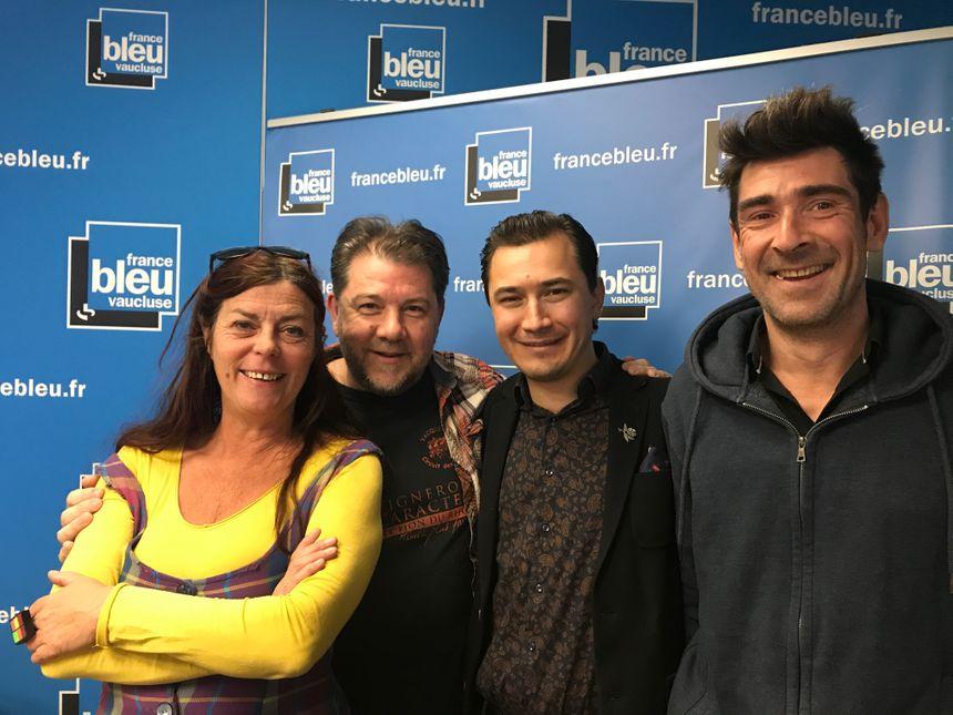 Nathalie MAZET, Stéphan MANGANELLI, Paulin REYNARD et Gaël WILD dans Aqui sian bèn !