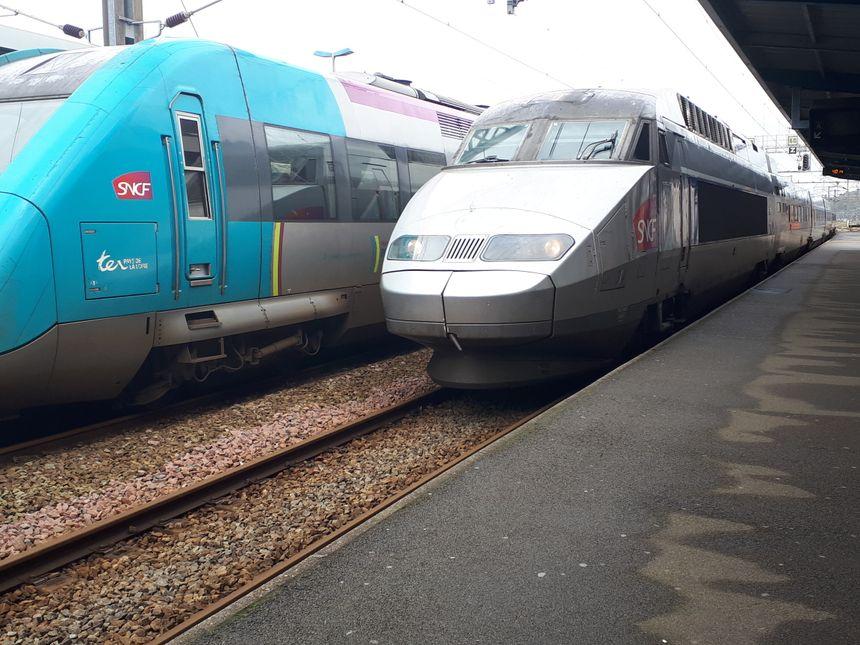 TER et TGV en garde de Quimper