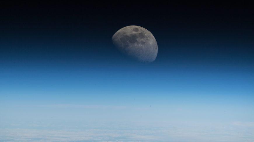 La Lune, vue de la Station spatiale internationale (ISS), le 9 juillet 2018.