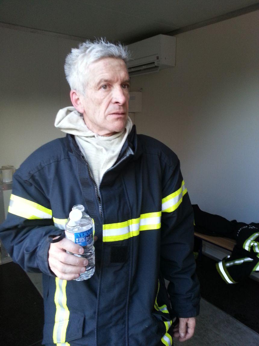 François Michel, pompier-formateur en retraite est venu tester le nouveau matériel
