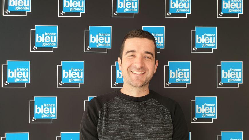 Matthieu Berroneau, herpétologue de l'association Cistude Nature dans les studios de France Bleu Gironde