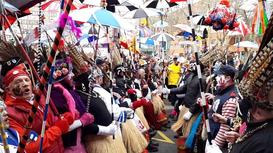 Première ligne du Carnaval de Dunkerque 2019