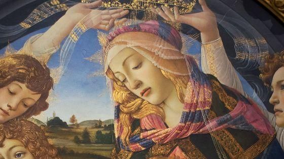 Madonna del Magnificat, peinture de Sandro Boticelli (détail)