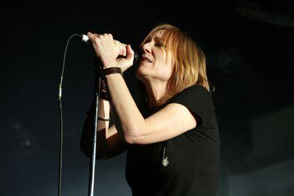 """Beth Gibbons, en concert avec le groupe """"Portishead"""", le 08 décembre 2007 à Minehead, Royaume-Uni"""