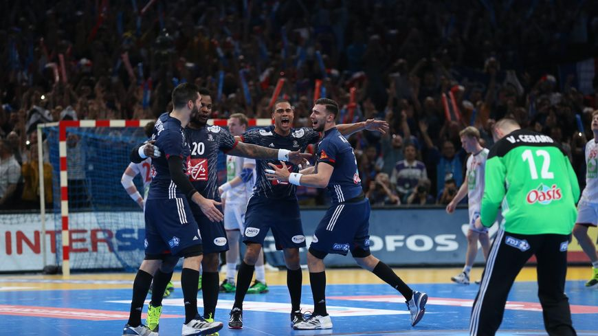 En 2017, l'équipe de France masculine de handball, championne du monde