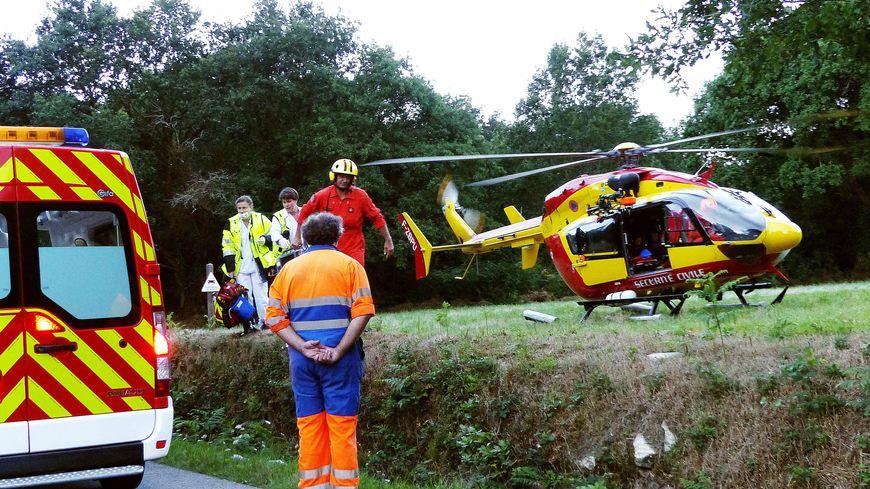L'hélicoptère de la sécurité civile du morbihan en intervention (illustration)
