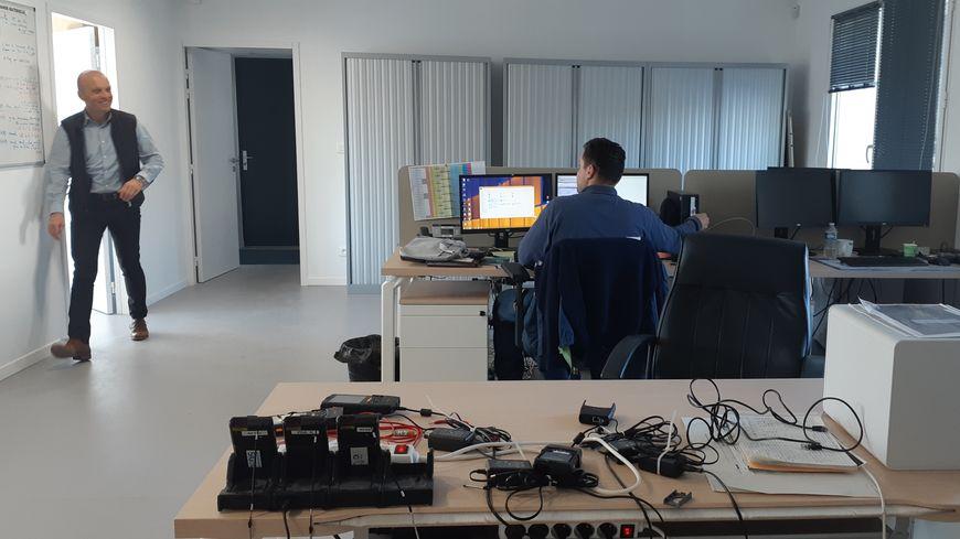 La salle de travail principale des agents d'Enedis à Crest.