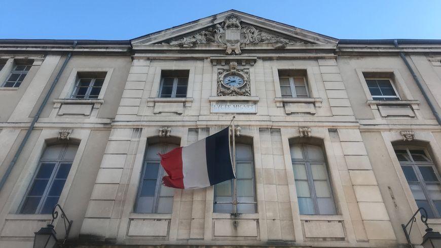 Le collège Mignet dans le quartier Mazarin à Aix-en-Provence