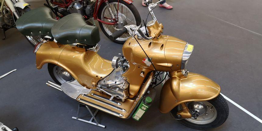 Un modèle rare. 12.000 de ces scooters italiens Rumi ont été fabriqués.
