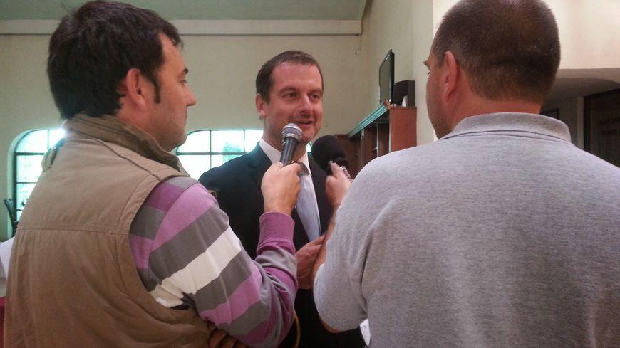 Xavier Cazaubon, lors de son élection à la présidence de la Fédération Internationale de Pelote Basque en 2014 à Zinacantepec, Mexique