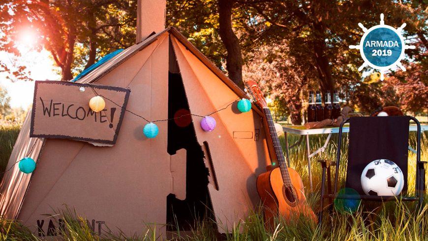 Les tentes en carton résistent jusqu'à 4 jours de pluie consécutifs selon Kartent qui les fabrique