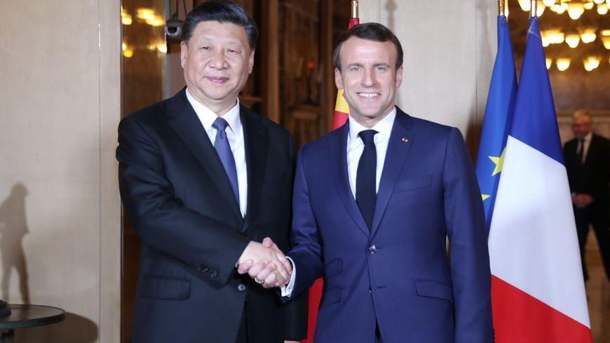 Xi Jinping et Emmanuel Macron