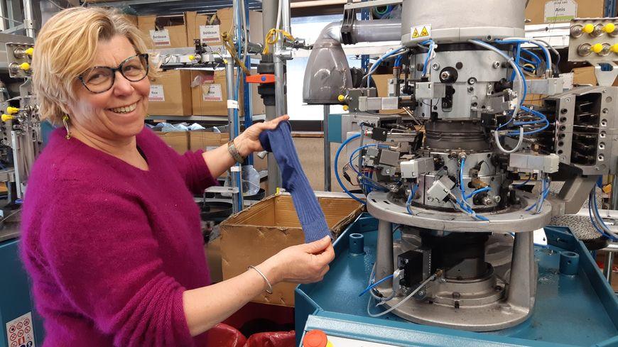 Myriam Joly a créé et fabrique la chaussette la plus solide du monde.