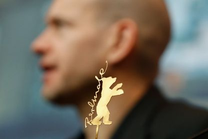 """Le réalisateur et scénariste israélien Nadav Lapid, récompensé de l'Ours d'or à la Berlinale 2019 pour son film """"Synonymes"""" (16 février 2019)"""