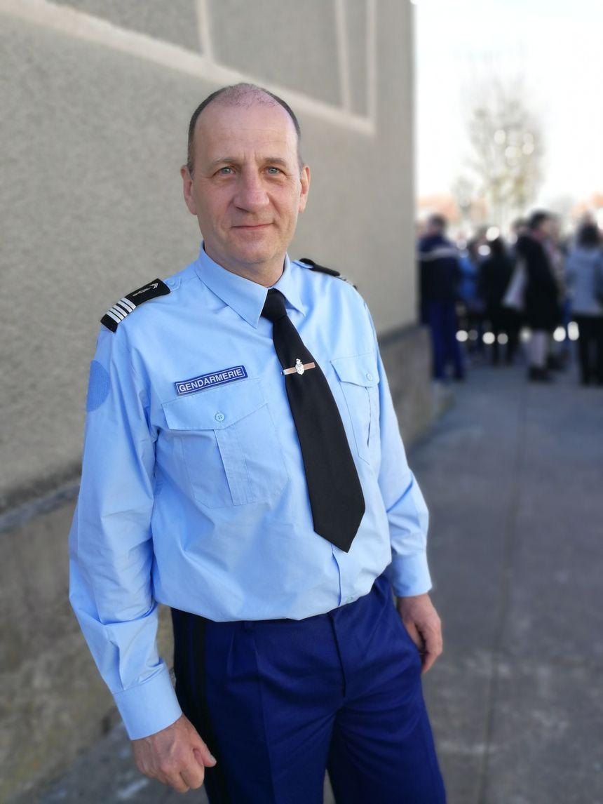 Le colonel Patrick Chabrol, de l'Etat major de la gendarmerie de Bourgogne-Franche-Comté