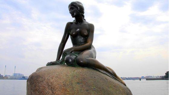 La petite sirène à Copenhague, Danemark