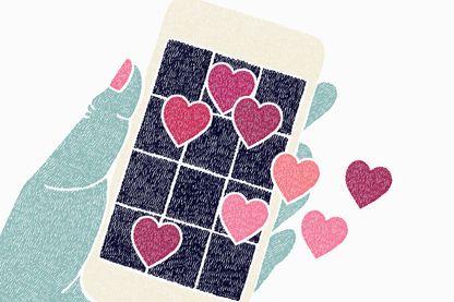 L'amour avec des applis de rencontre ?