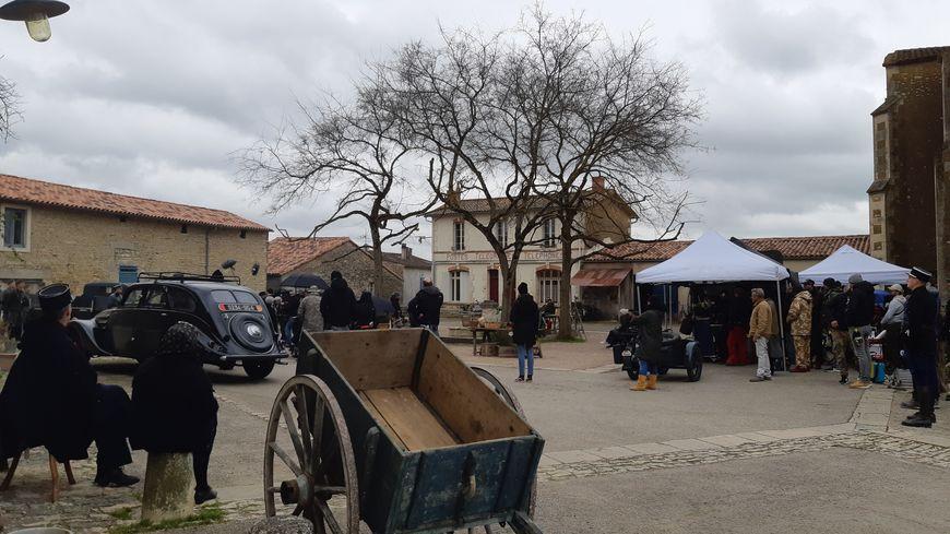 Le tournage, commencé mardi à Arçais, dure jusqu'à ce vendredi