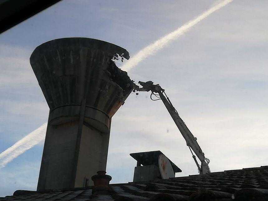 La démolition du château de Luxey