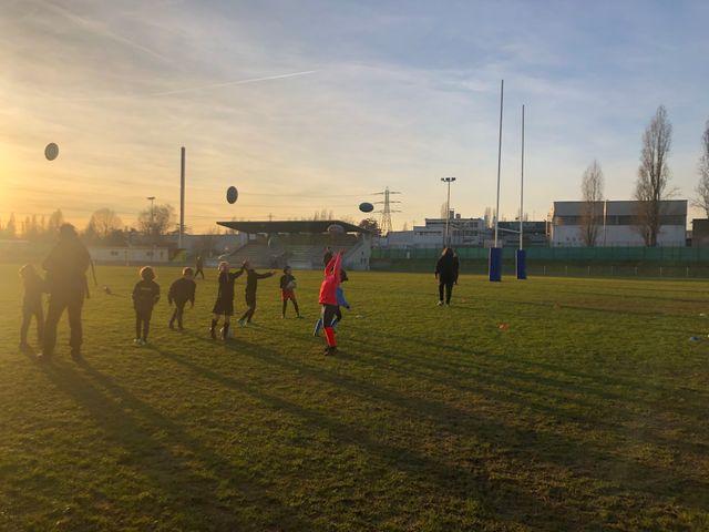 Entrainement de l'école de rugby de Cergy-Pontoise