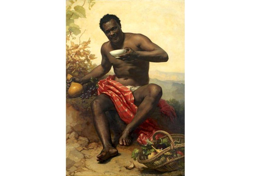 """""""Joseph, le nègre"""", peint par Adolphe Brune durant la seconde moitié du XIXe siècle"""