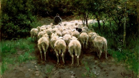 Sheep in the Forest, Anton Mauve (1838-1888)
