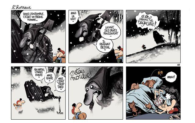 Strip tiré du tome 6 du Retour à la terre de Jean-Yves Ferri et Manu Larcenet