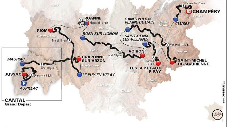 Le parcours 2019 du Dauphiné
