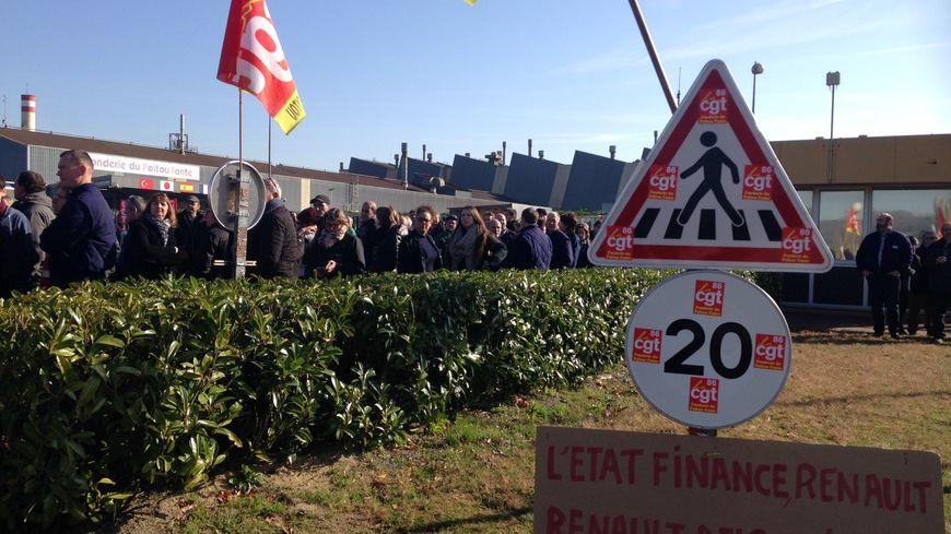 Le directeur des achats de Renault est venu sur le site des Fonderies du Poitou avant de démarrer les négociations.