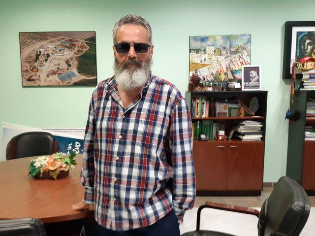 Juan Manuel  Sánchez Gordillo, maire de Marinaleda, dans son bureau le 12 mars 2019