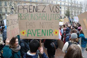 Une manifestation pour le climat à Paris.
