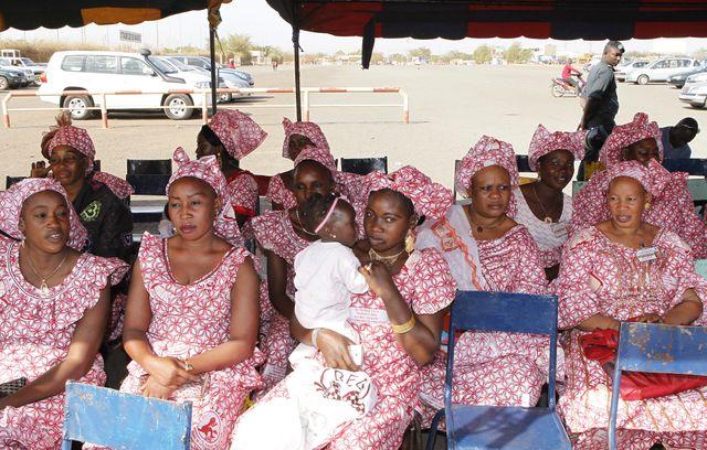 Délégation de Maliennes lors d'un rassemblement contre les mutilations génitales