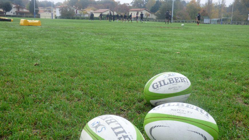 Entraînement du Stade Montois Rugby à la plaine des jeux, à Mont-de-Marsan