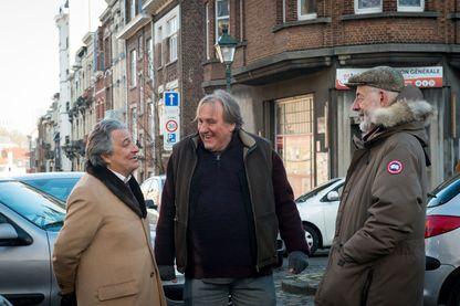 """Christian Clavier, Gérard Depardieu et le réalisateur Bertrand Blier, sur le tournage de """"Convoi Exceptionnel"""" !"""