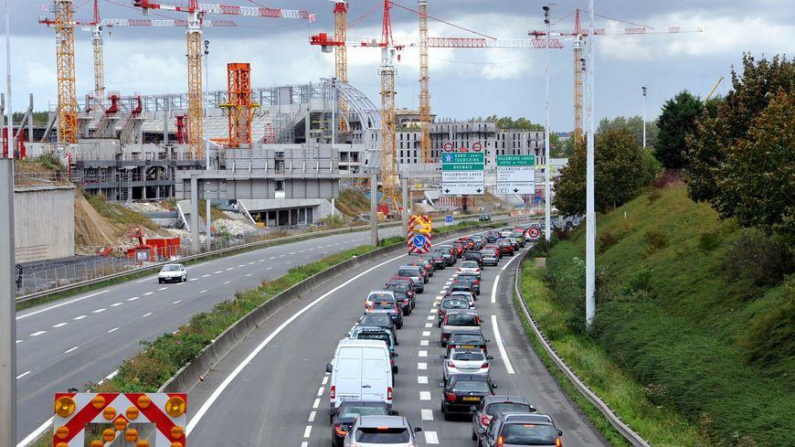 La RN 227 à Villeneuve d'Ascq - Image d'illustration