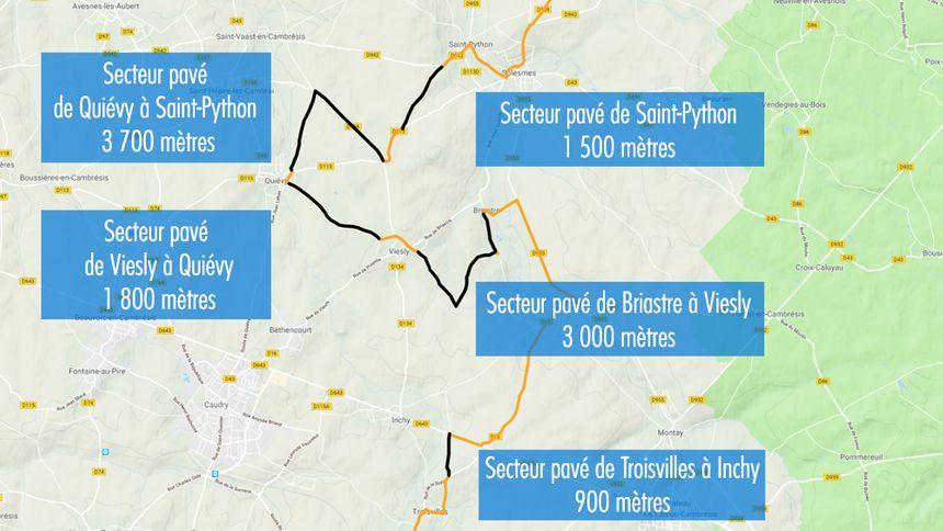 Les premiers secteurs pavés empruntés par les coureurs lors de l'édition 2019 du Paris-Roubaix - Radio France