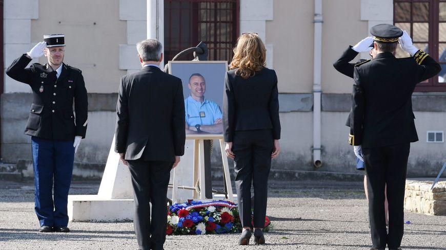 Hommage aux victimes de l'attentat de Trèbes et Carcassonne.