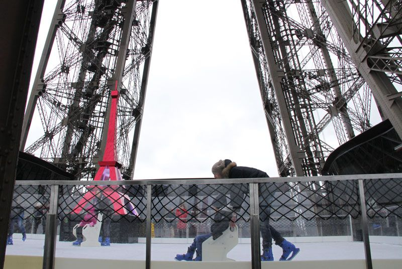 Une patinoire sur la tour