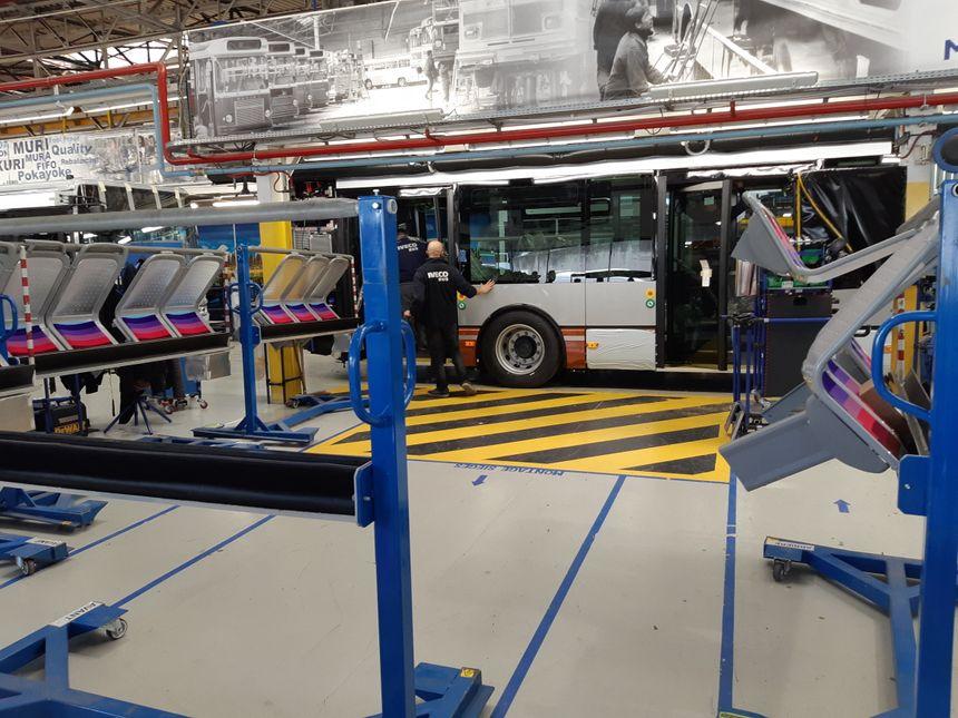 L'usine Iveco Bus à Annonay (Ardèche)