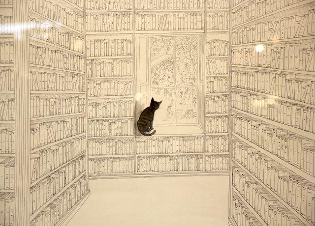 Dessin de Sempé présenté au Salon du livre 2014 dans l'exposition qui lui est consacré