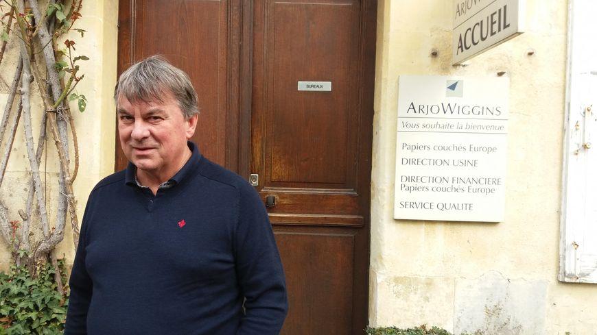 Terje Haglund, potentiel repreneur des trois sites d'Arjowiggins dont ceux de Bessé-sur-Braye et Saint-Mars-la-Brière dans la Sarthe. 12 mars 2019.