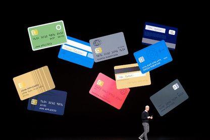 """Apple a présenté son """"Apple Card"""" mardi lors d'une conférence"""