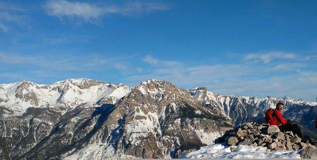 Lionel Daudet sur un sommet