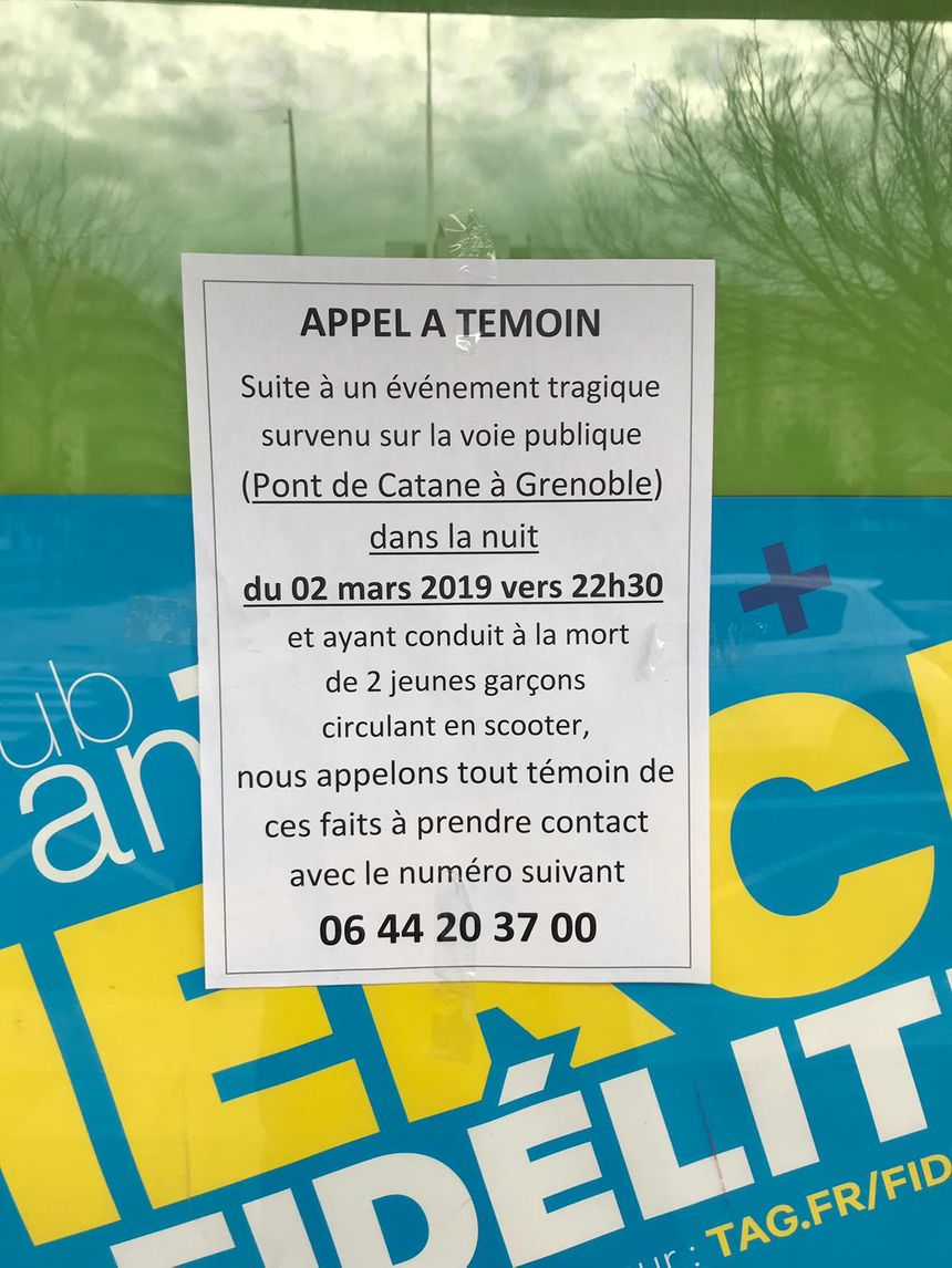 L'appel à témoins a été placardé un peu partout à Grenoble