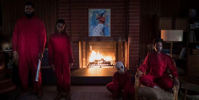 """Winston Duke, Shahadi Wright Joseph, Evan Alex et Lupita Nyong'o, sur le tournage de """"Us"""" de Jordan Peele"""