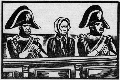 Henriette Cornier sur le banc des accusés en 1876 (gravure du Petit Journal en 1931)