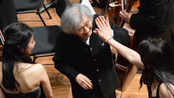 GENEVA, SWITZERLAND - JUNE 28: (CHINA OUT, SOUTH KOREA OUT) Conductor Seiji Ozawa is seen during a concert of the Seiji Ozawa International Academy Switzerland on June 28, 2014 in Geneva, Switzerland