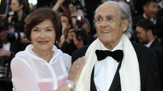 Macha Méril et Michel Legrand à Cannes, en 2017