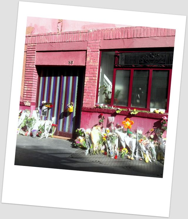 Hommage à Agnès Varda, à son domicile rue Daguerre