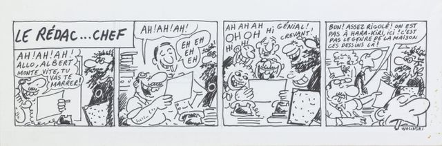 L'un des dessins de Wolinski conservés par la BNF